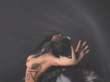 another sneak peek! this is an aspect of the celtic goddess the Morrigan, a trifold goddess. more about her later...