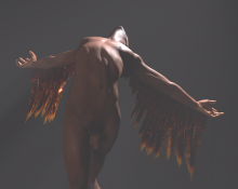 a sneak peek at a new render! this is based on a cave painting in South Africa.