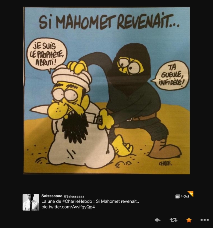 the most recent Charlie Hebdo comic is extremely On point